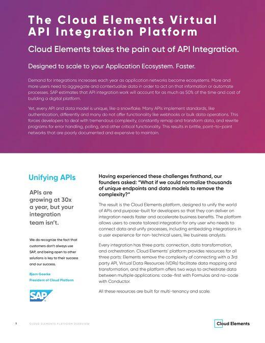 The Cloud Elements Platform Overview