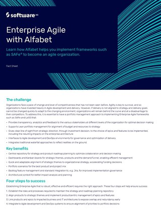Fact Sheet: Enterprise Agile with Alfabet