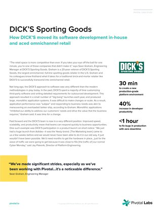 How DICK'S Sporting Goods moved its software development in-house and aced omnichannel retail
