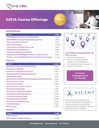 CATIA Course Offerings