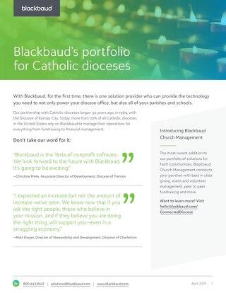 Blackbaud Diocese Datasheet