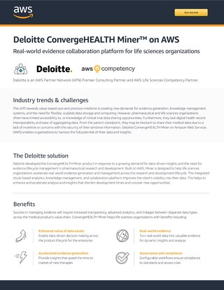 Deloitte ConvergeHEALTH Miner on AWS