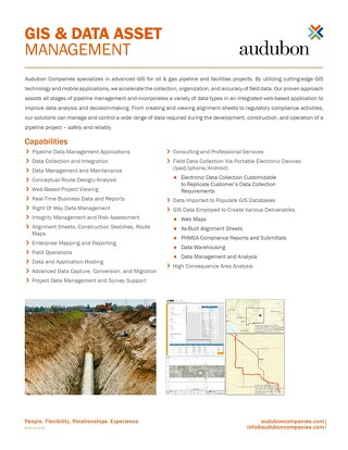 GIS & Data Asset Management
