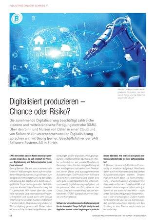 Digitalisiert produzieren – Chance oder Risiko?