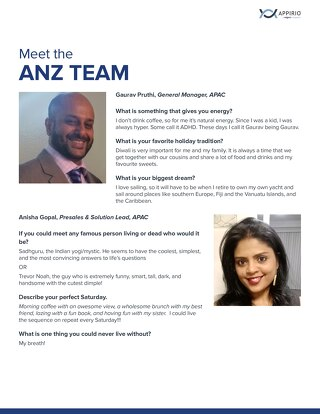 Meet Appirio's ANZ Team