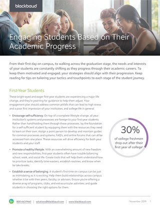 Tip Sheet: Engaging Students Based on Academic Progress