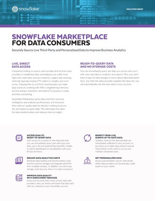 Snowflake Data Exchange for Consumers