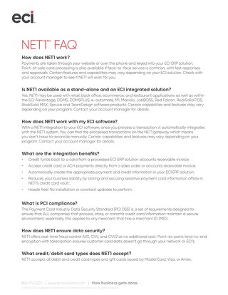 NET1 Frequently Asked Questions