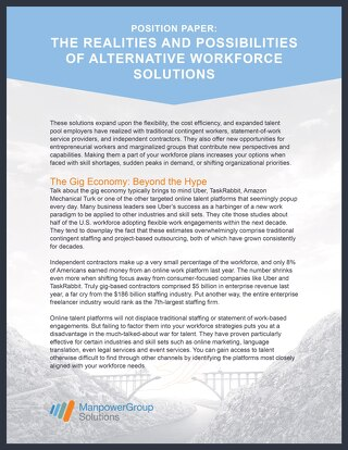 Alternative Workforce Solutions Position Paper
