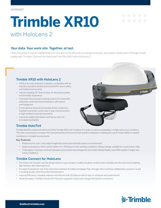 Datasheet - Trimble XR10 with HoloLens 2