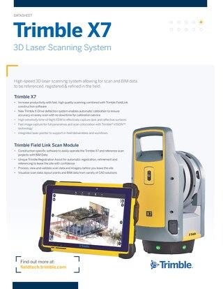 Datasheet - Trimble X7 3D Laser Scanner