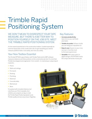 Datasheet - Trimble RPT & Trimble FieldLink