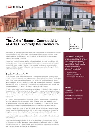 The Art of Secure Connectivity at Arts University Bournemouth