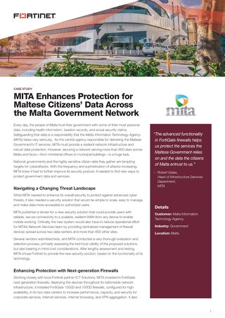 MITA Enhances Protection for Maltese Citizens' Data Across the Malta Government Network