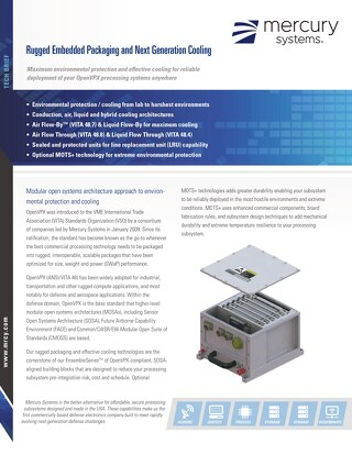 Rugged Embedded Packaging Cooling