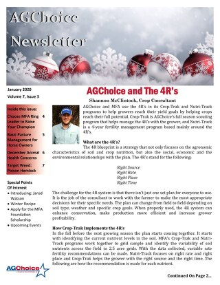 AGChoice December 2019 Newsletter
