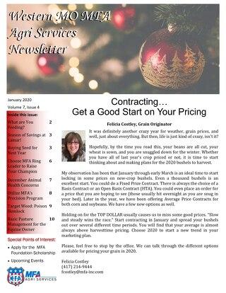Western MO December 2019 Newsletter