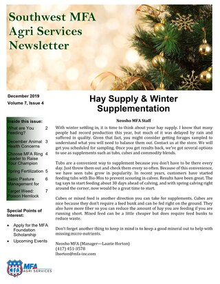 Southwest December 2019 Newsletter