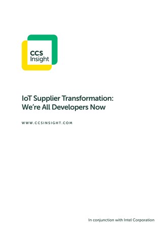 IoT Supplier Transformation: We're All Developers Now