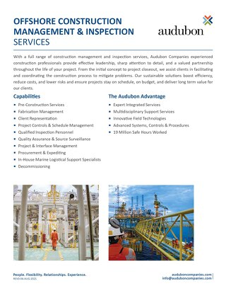 AE Offshore Construction Management Inspection Services