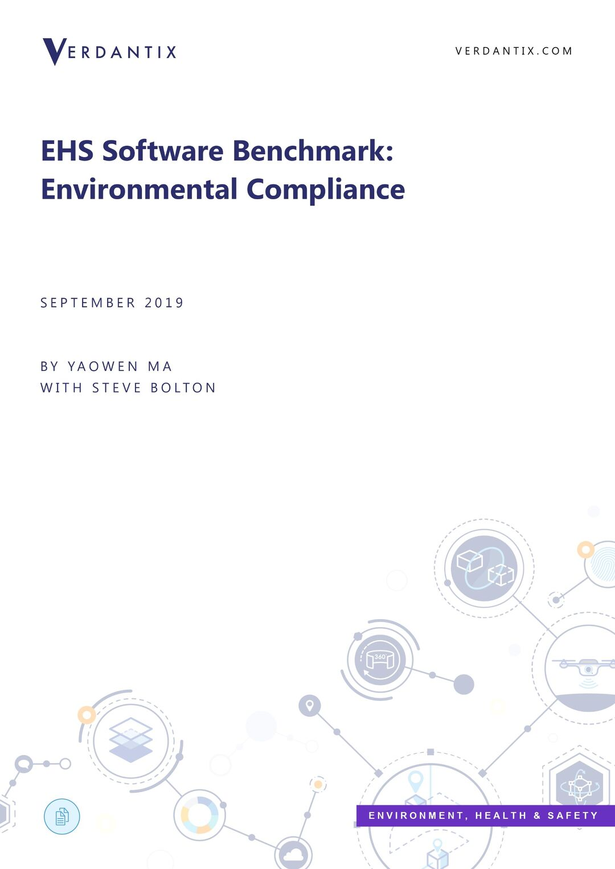 Verdantix EHS Software Benchmark: Environmental Compliance