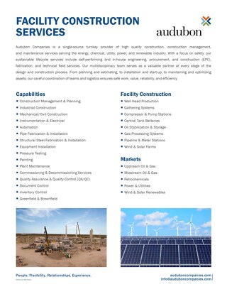 Facility Construction Services