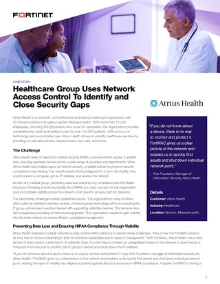 Healthcare Group Uses Network Access Control To Identify and Close Security Gaps