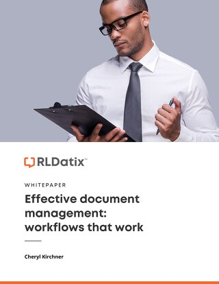 Effective document management: Workflows that work