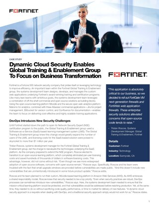 Dynamic Cloud Security