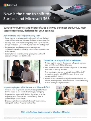 Shift to Microsoft Surface and Microsoft 365