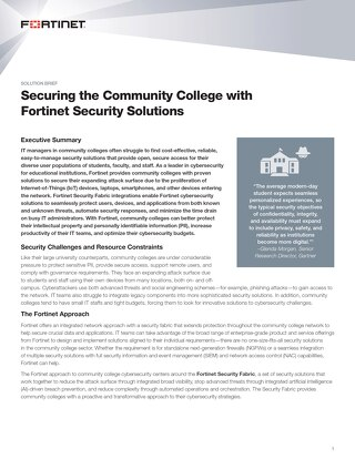 Securing the Community College with Fortinet Security Solutions