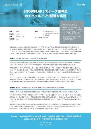 【事例:8fit】SNOWFLAKE でデータ主導型 のモバイルアプリ開発を実現