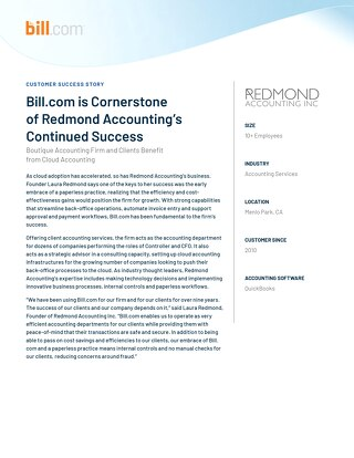 Case Study - Redmond Accounting Inc