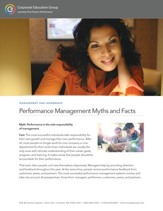 Performance Management Myths and Facts