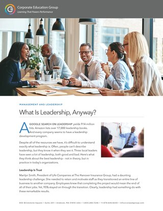 What Is Leadership, Anyway?