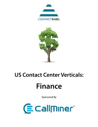 ContactBabel US Contact Center Vertical Market Report: Finance