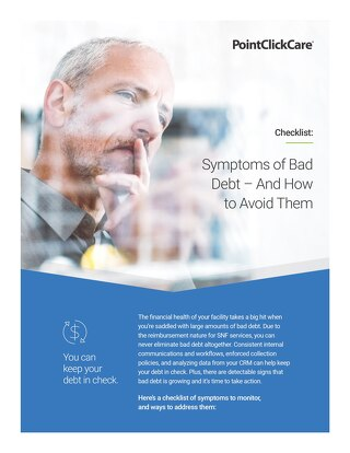 Symptoms of Bad Debt
