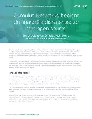 Cumulus Networks: bedient de financiële dienstensector met open source
