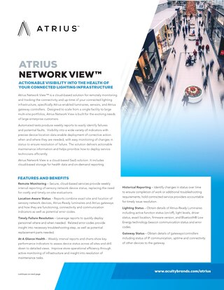 Atrius Network View Sell Sheet