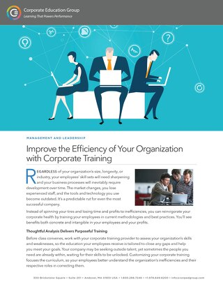Improve the Efficiency of Your Organization with Corporate Training