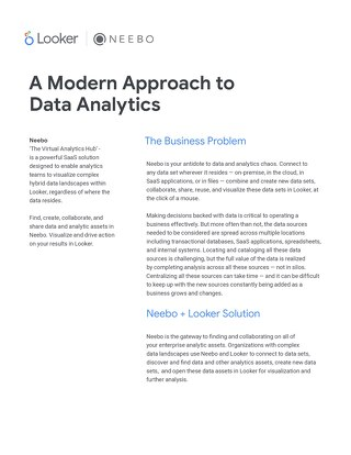 Looker + Neebo: A Modern Approach to Data Analytics
