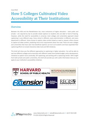 How 5 Colleges Cultivated Video Accessibility at Their Institutions