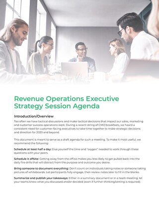 Revenue Operations Executive Summit Agenda
