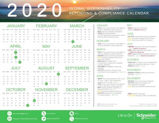 Global Sustainability Reporting and Compliance Calendar [UPDATED April 2020]