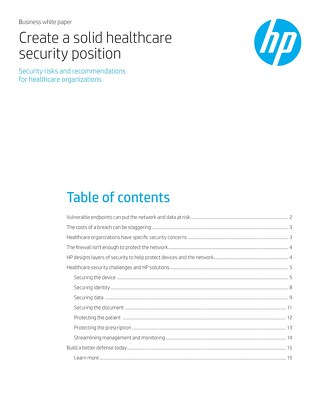 HP Creates A Solid HC Security Position