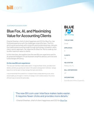 Case Study: Blue Fox