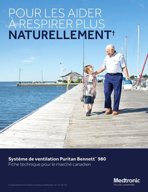 Système de ventilation Puritan Bennett 980 - Fiche technique pour le marché canadien