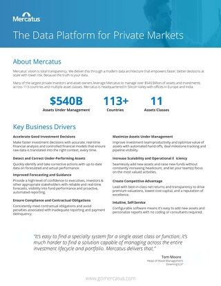 Platform Data Sheet