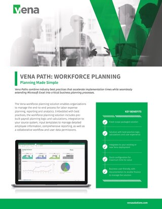 Vena Paths - Workforce Planning Datasheet