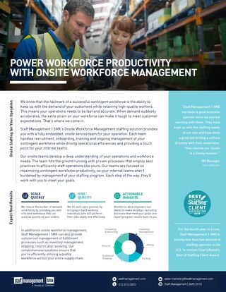 Staff Management Onsite Model Info Sheet